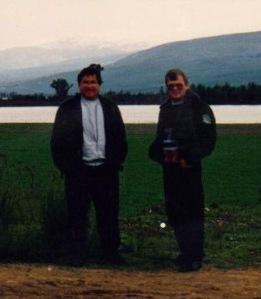 דב רוזמן (משמאל) ואבא שלי
